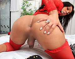 Latin Tgirl Julia Mello Enjoys Pleasing Herself
