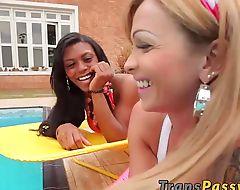Latin shemales Carla and Viviane having interracial TS sex