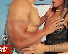 Tattooed transsexual buttfucked by bbc