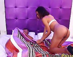 Gorgeous transsexual Bella Rosario enjoys in hardcore sex