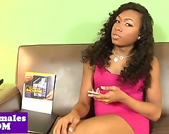 Black trans amateur getting doggystyled