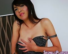 Asian tranny cum covered