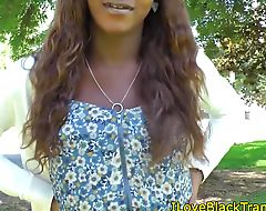 Busty nubian transexual in solo session