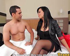 Latina tgirl beauty fucked in nice round ass