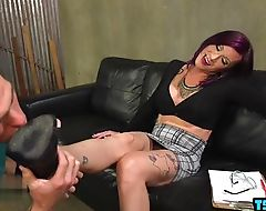 Hot shemale seduction and cumshot