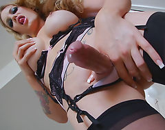 Big Tittied TS Nadia Alekandra Enjoys Masturbating