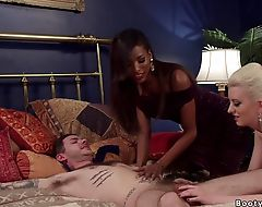 Black tranny bangs blonde and a guy