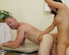 Big tits brunette shemale Chanel Santini fucks nasty dude