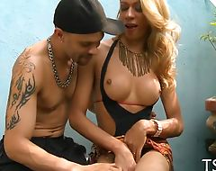 Shemale likes dick of her partner