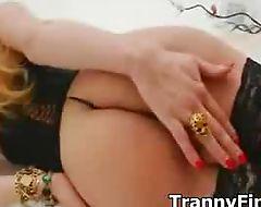 Hot tranny cums