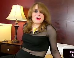 Kinky amateur tgirl jerksoff and fingers ass